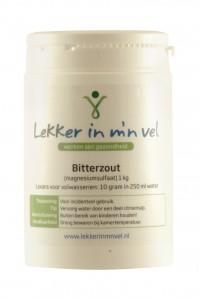 Bitterzout voor laxering bij darmreining of leverreiniging.
